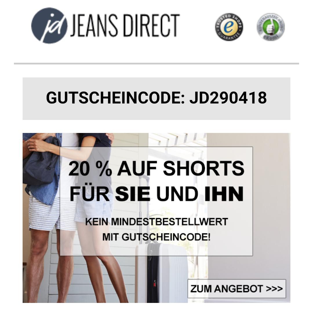 [Jeans Direct] 20% auf Shorts