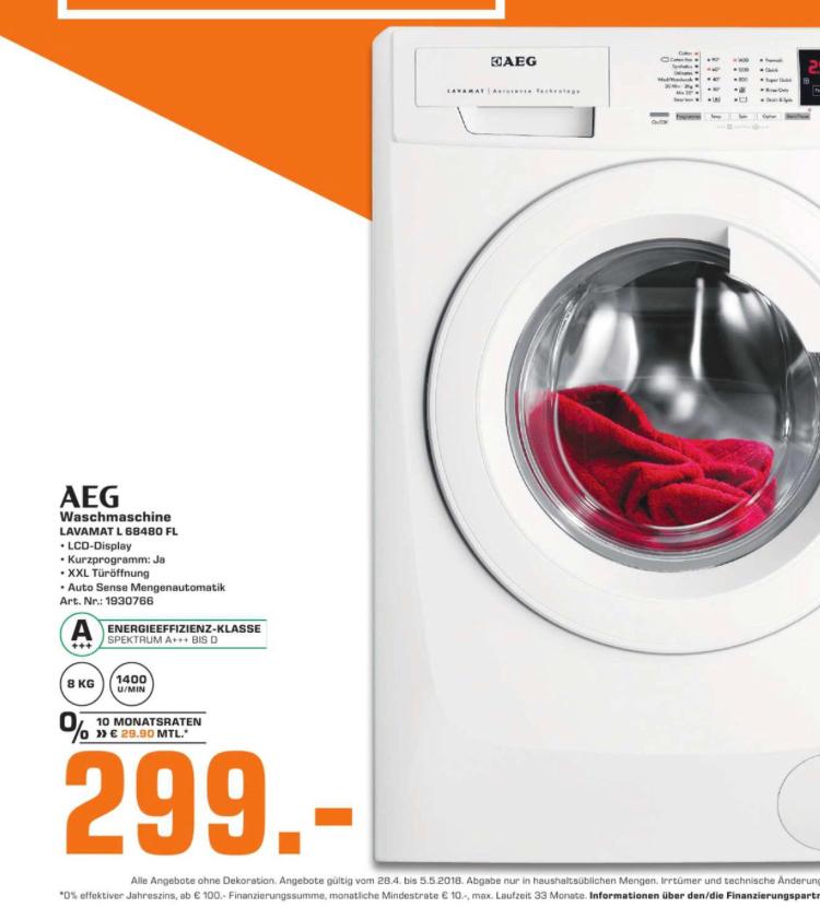Waschmaschine AEG L 68480 FL Lokal Saturn Dortmund, Lünen, Witten