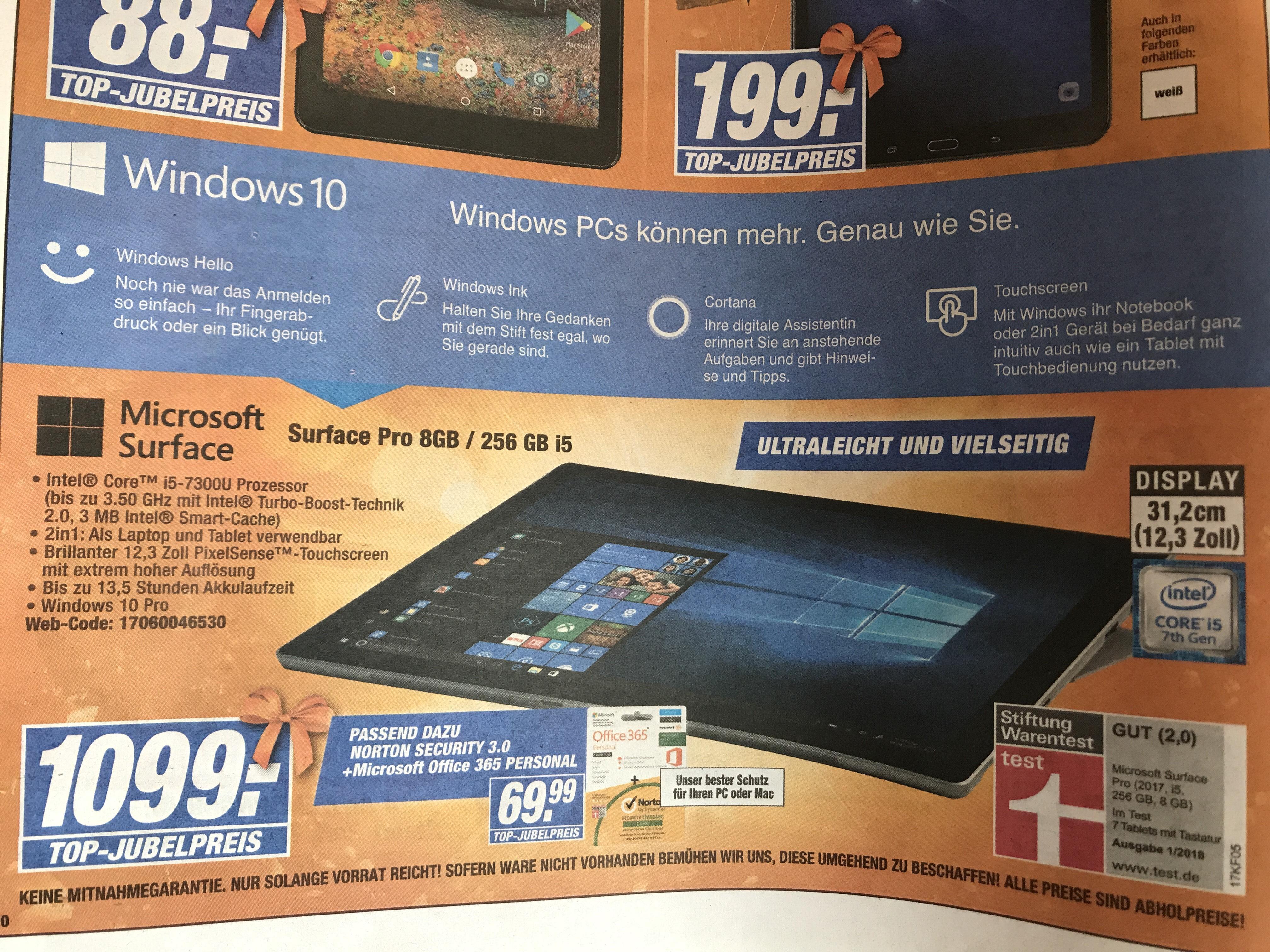 Microsoft Surface Pro (2017) i5 / 8GB RAM / 256GB