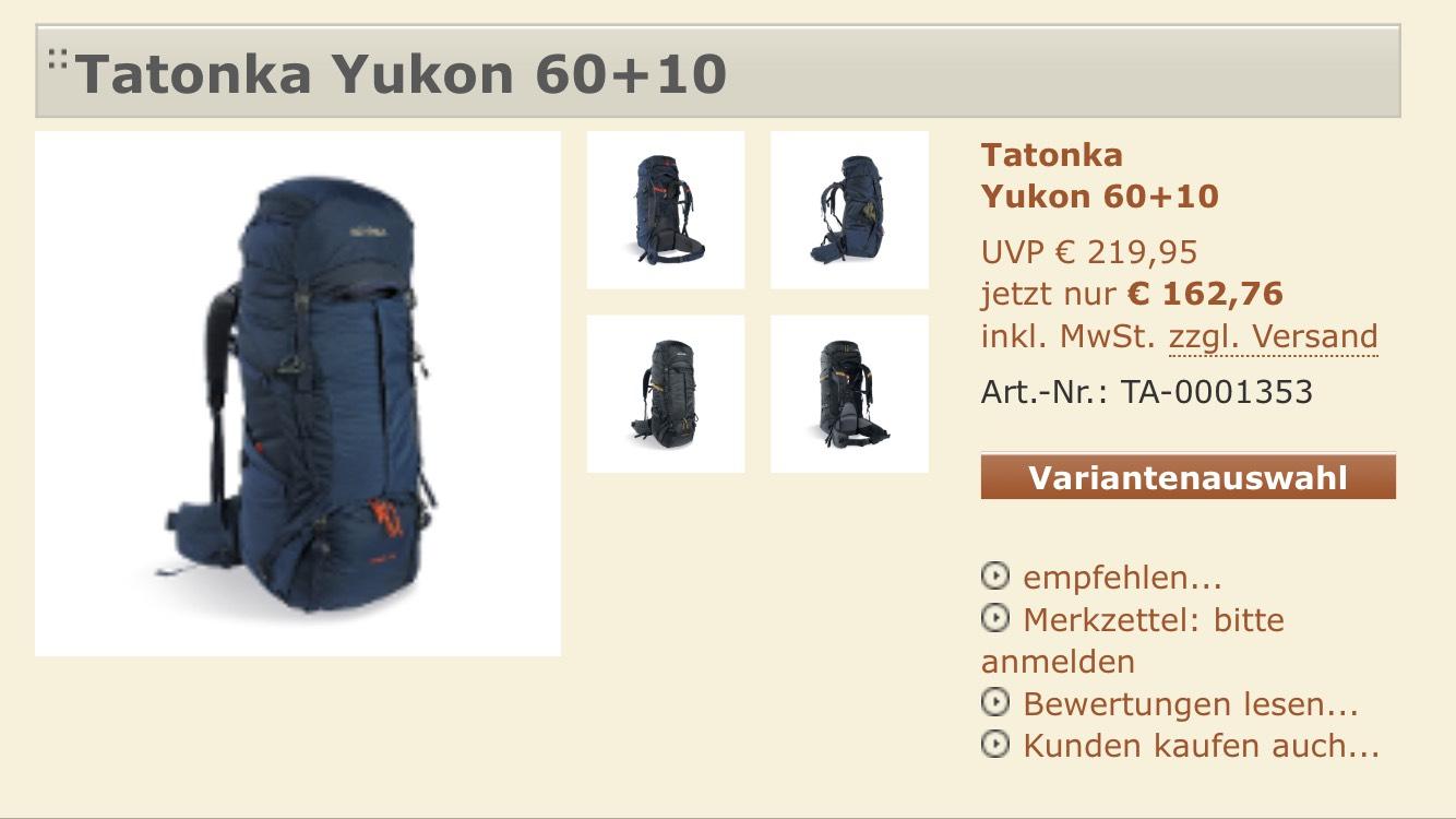 Tatonka Rucksack Yukon 60+10 Navy
