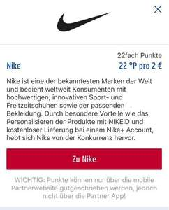 NIKE 22 Fach Payback Punkte!