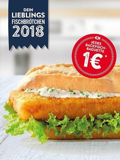 Backfisch-Baguette für 1€ bei Nordsee [am 5. Mai]