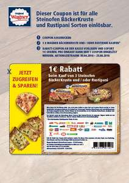 1€ Rabatt beim Kauf von 3 Steinofen BäckerKruste und/oder Rustipani