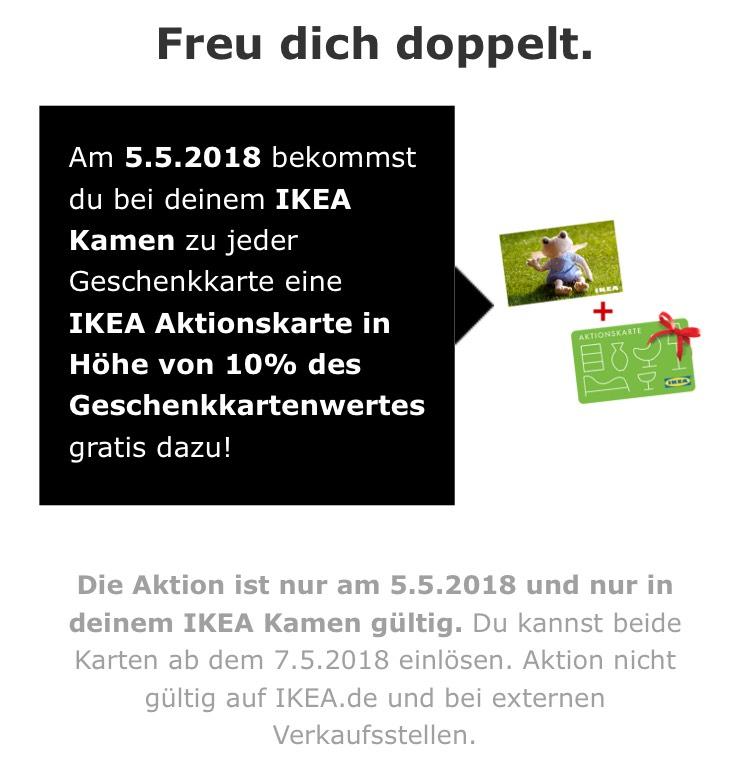 [Lokal 05.05] IKEA Kamen&Dortmund: 10% extra Guthaben auf Gutscheinkarten