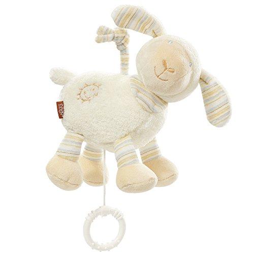 Fehn 154658 Spieluhr Schaf / Aufzieh-Spieluhr mit herausnehmbarem Spielwerk zum Aufhängen, Kuscheln und Greifen, für Babys und Kleinkinder ab 0+ Monaten nur noch vorbestellbar