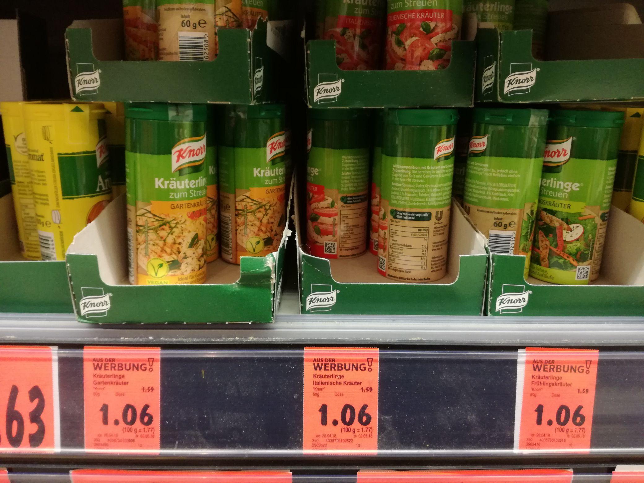 [Kaufland] Knorr Kräuterlinge versch. Sorten