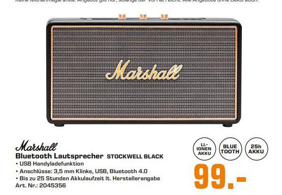 [Regional Saturn Fürth/Nürnberg ab 03.05] Marshall Stockwell Lautsprecher (Bluetooth 4.0, Ausgangsleistung 27 Watt, Schwarz) für 99,-€