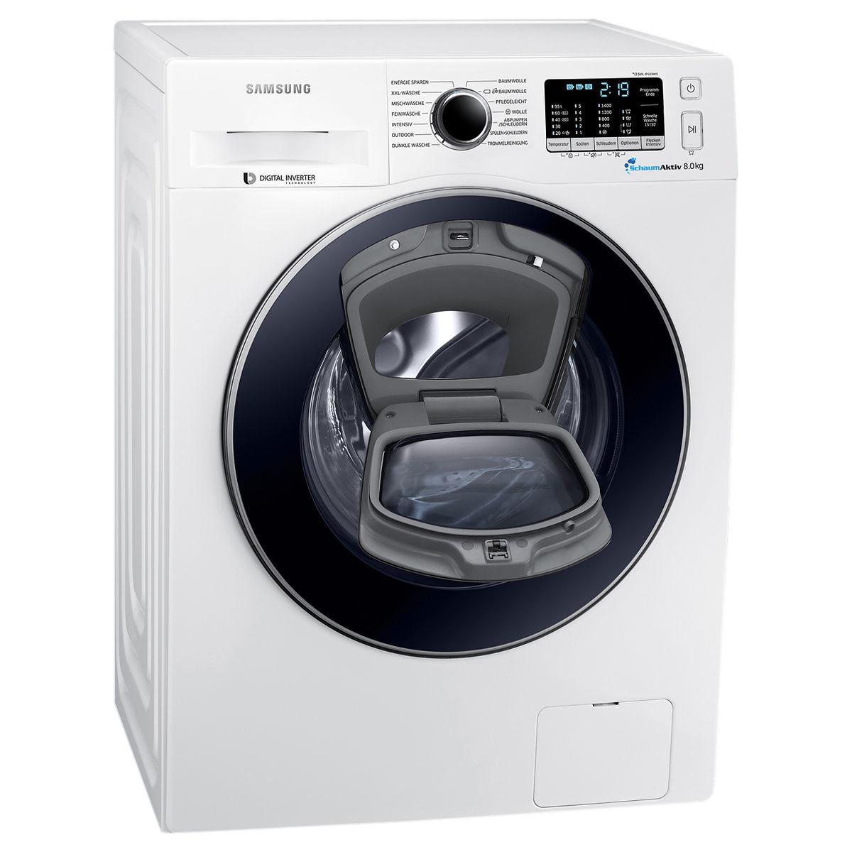 Samsung WW80K5400UW/EG Waschmaschine A+++ 8KG inkl. Lieferung mit Newsletteranmeldung [KARSTADT]