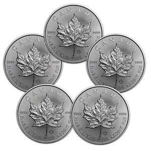 Maple Leaf 5 x 1 oz Silber 999,9