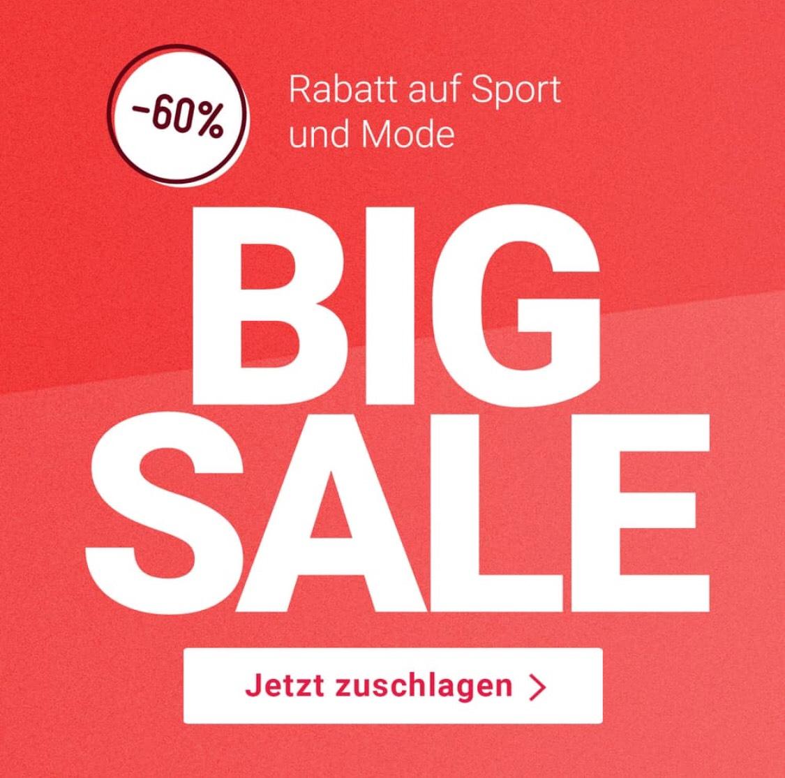 [SCHWEIZ] 60% bei Siroop auf alles in den Kategorien Sale Sport und Sale Mode