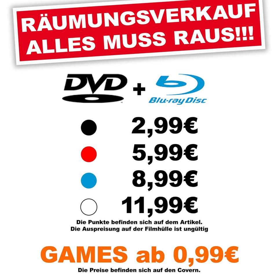[Lokal Berlin Marzahn] - Video World - Blumberger Damm - Räumungsverkauf ab 08.05.