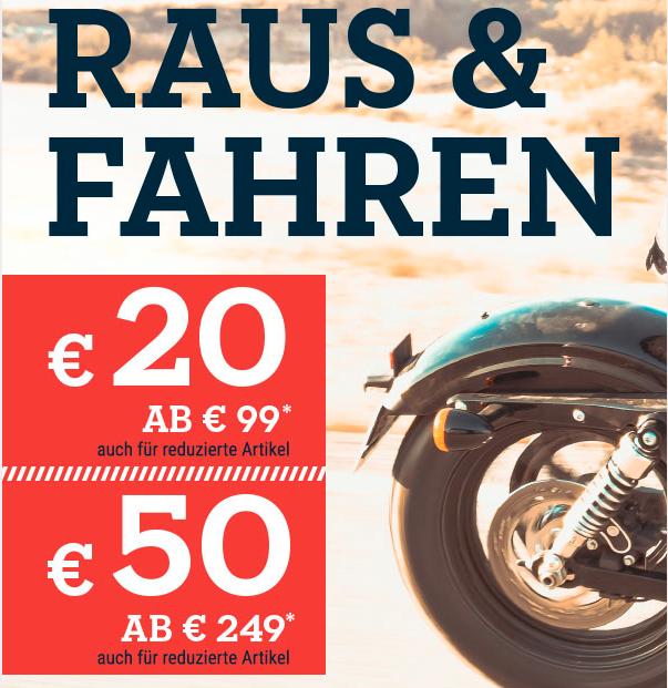 Polo Motorrad lässt einen fahren - 20€ / 50€ Rabatt auch auf reduzierte Artikel (MBW 99/249€)