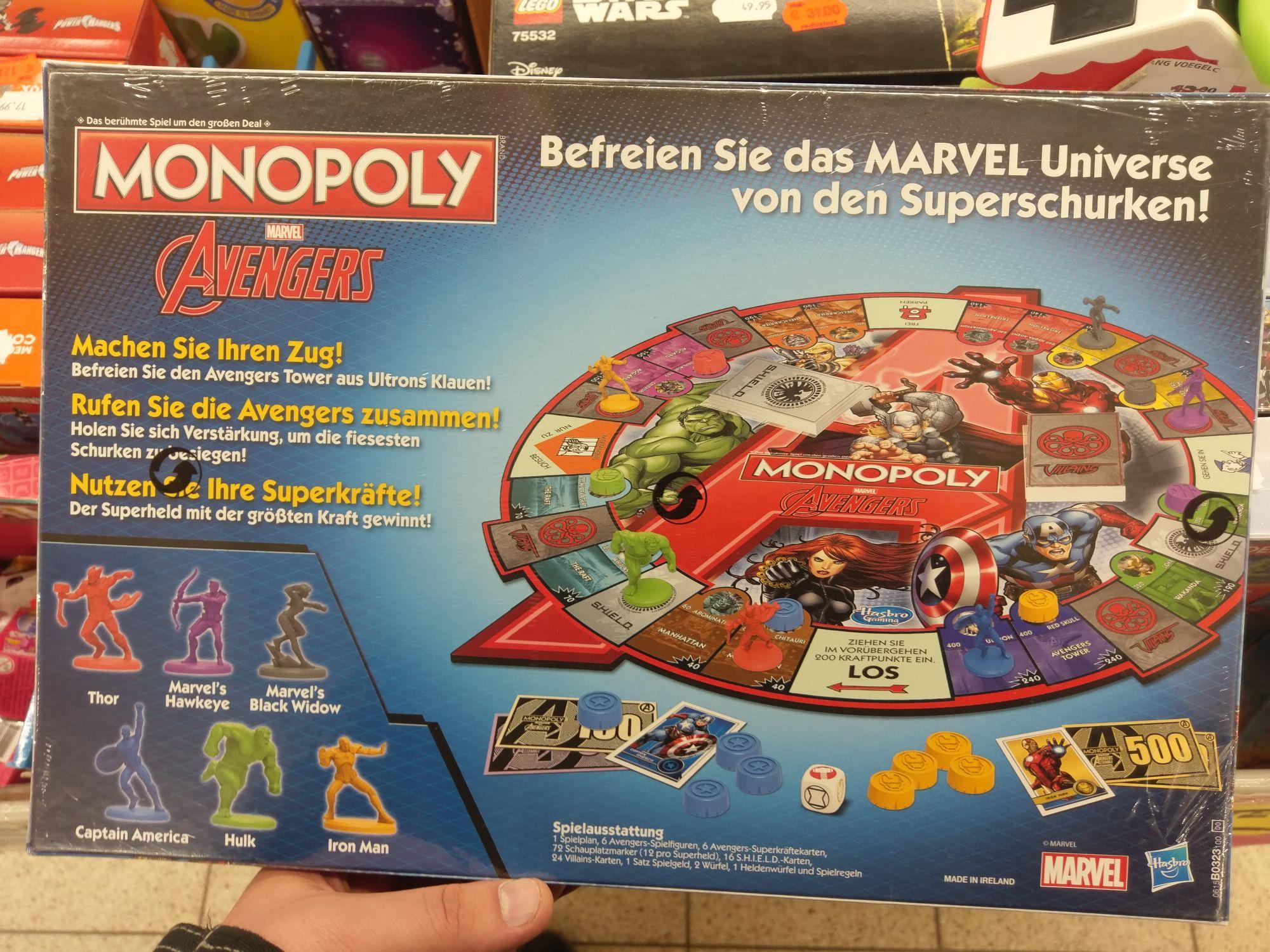 Marvel Avengers Monopoly Brettspiel [Lokal, Rastatt]