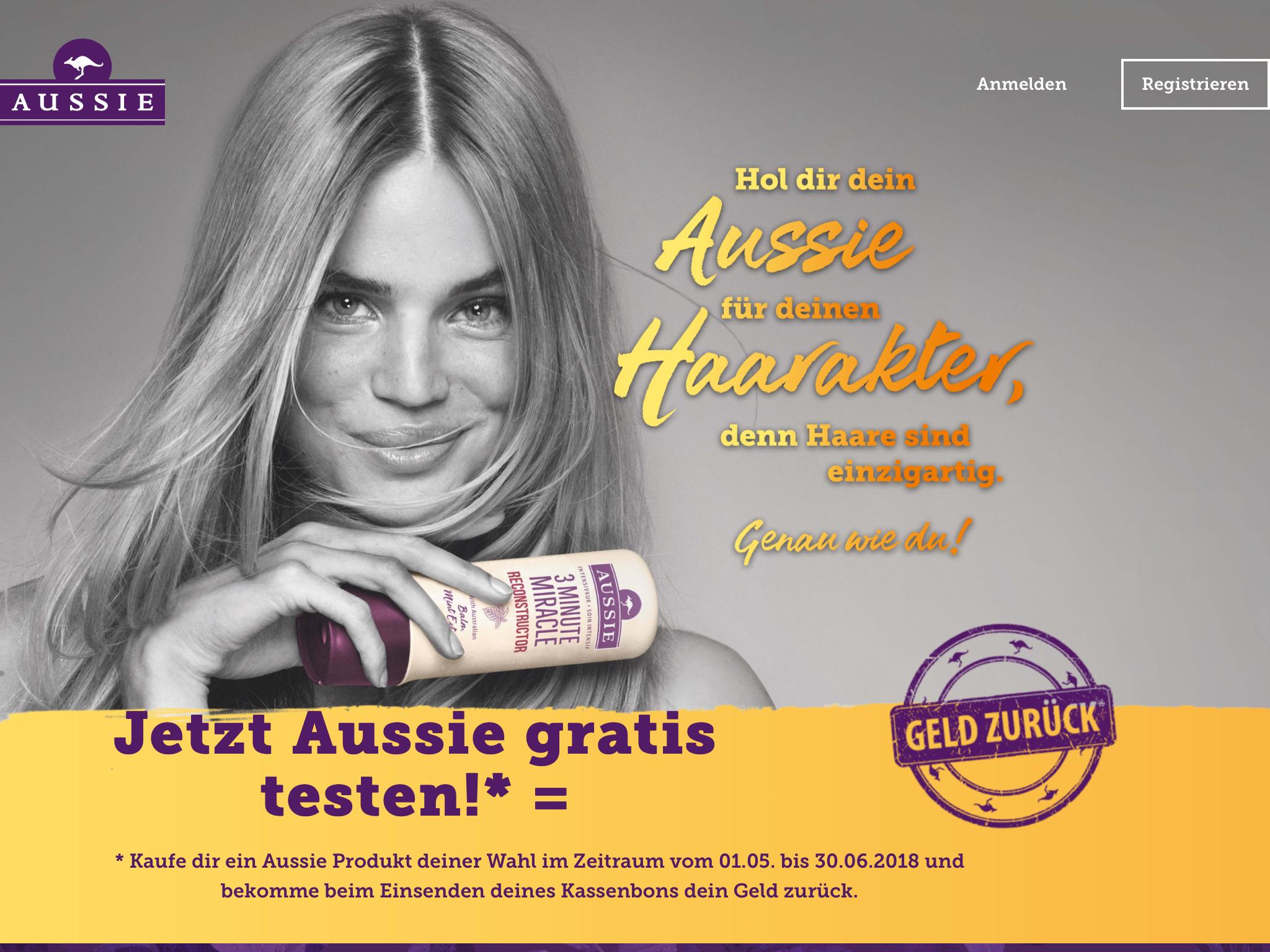 AUSSIE hair (gratis testen) Geld zurück