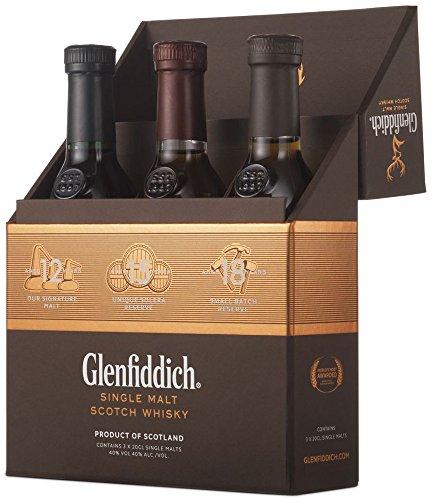 (Amazon) Glenfiddich Mix Pack 12 Jahre, 15 Jahre und 18 Jahre Single Malt Whisky (3 x 0.2 l)