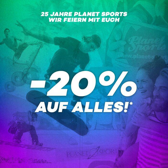Planet Sports. 20% auf ALLES! +  bis zu 80% Rabatt im Sale!