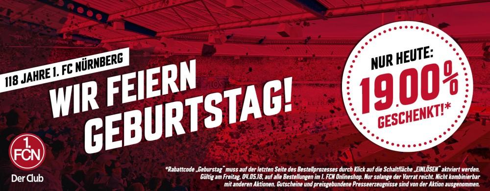 118 Jahre 1. FC Nürnberg - 19% Rabatt im FCN Fanshop