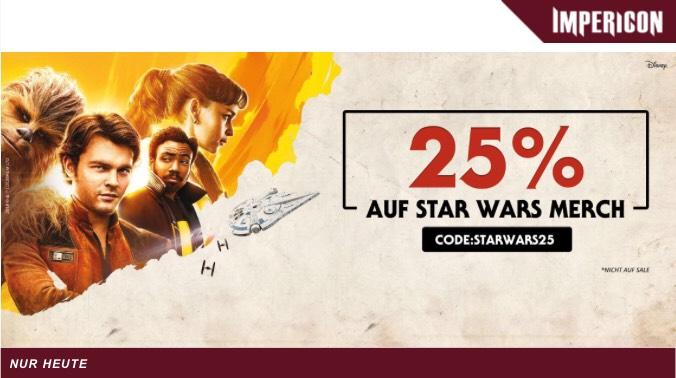 25% Rabatt auf Star Wars Merch bei Impericon