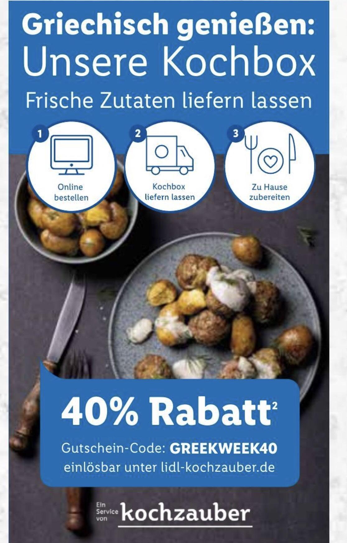 40% auf LIDL Kochbox