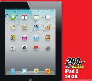 iPad 2 16GB WIFI für 299€  @ Media Markt Bad Dürrheim