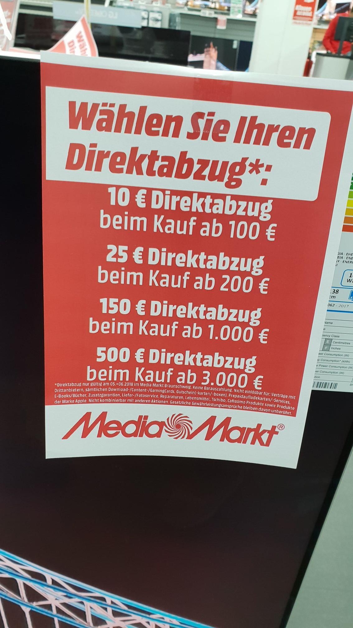 Mediamarkt Braunschweig Direktabzug Aktion