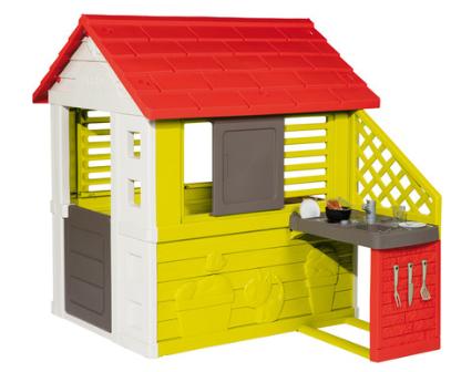 Spielhaus Smoby Natur Haus mit Sommerküche - für Neukunden bei windeln.de