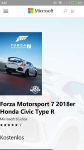 Forza Motorsport 7 - Neues Gratisauto für alle: 2018er Honda Civic Type R [Xbox One & PC]