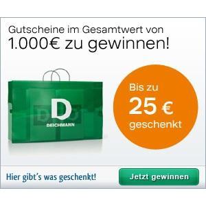 25€ Cashback für den nächsten Einkauf bei Deichmann @HGWG