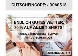 [Jeans-Direct] 30% Auf T-Shirts inkl. Sale (20€ MBW)