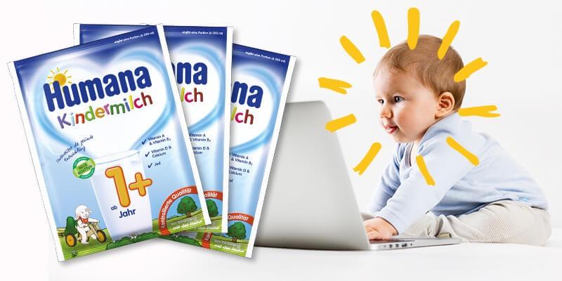 Humana Kindermilch 1+ gratis testen