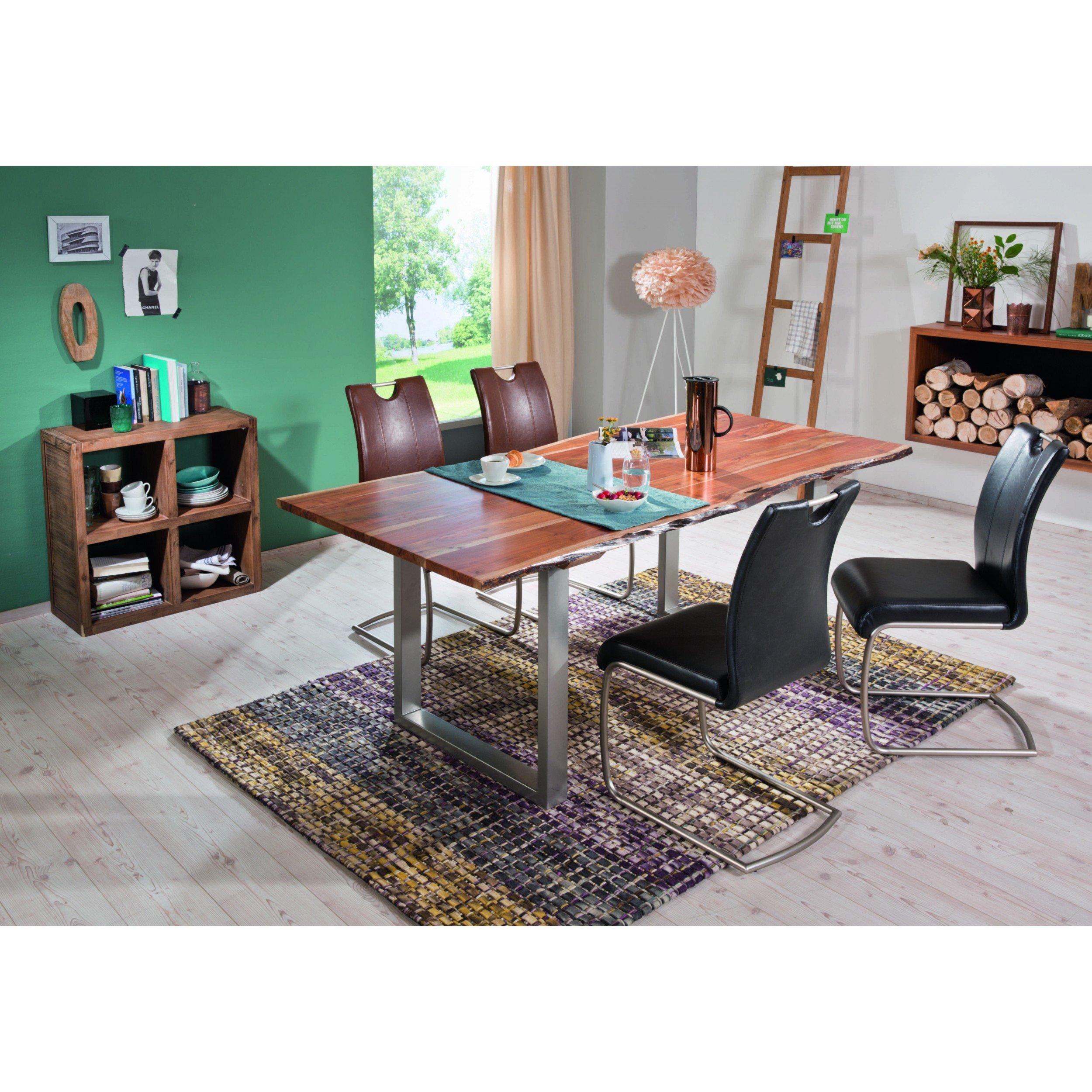 Esstisch 200 x 100 cm Tischplatte aus Akazie massiv in lackiert (bei Abholung 199€)