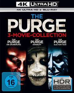 The Purge 3-Movie Collection 4K (3x 4K UHD + 3x Blu-ray + UV Copy) für 29,99€ (Black Lava)