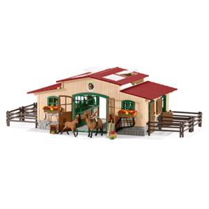 Schleich Pferdestall mit Pferden und Zubehör