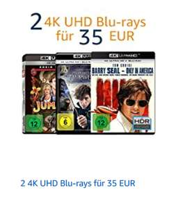 [Amazon] 2 4K/UHD Blurays für 35€