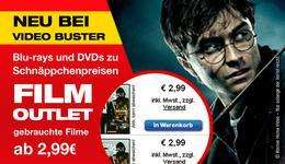 [ Blu-ray + DVD ] Neuer VIDEOBUSTER SHOP - FILM OUTLET - Gebrauchte Blu-rays ab 3,99 EUR DVDs ab 2,99 EUR