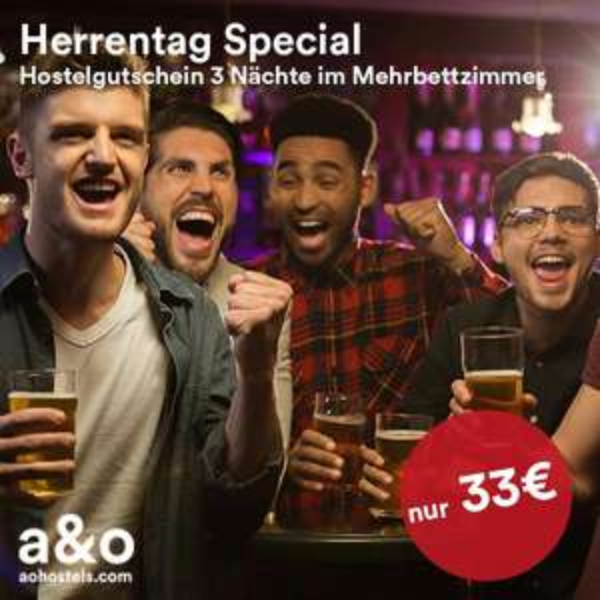 a&o Hostels - DORM & DZ Gutscheine
