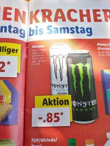 lidl monster energy versch sorten 0 5l dose. Black Bedroom Furniture Sets. Home Design Ideas