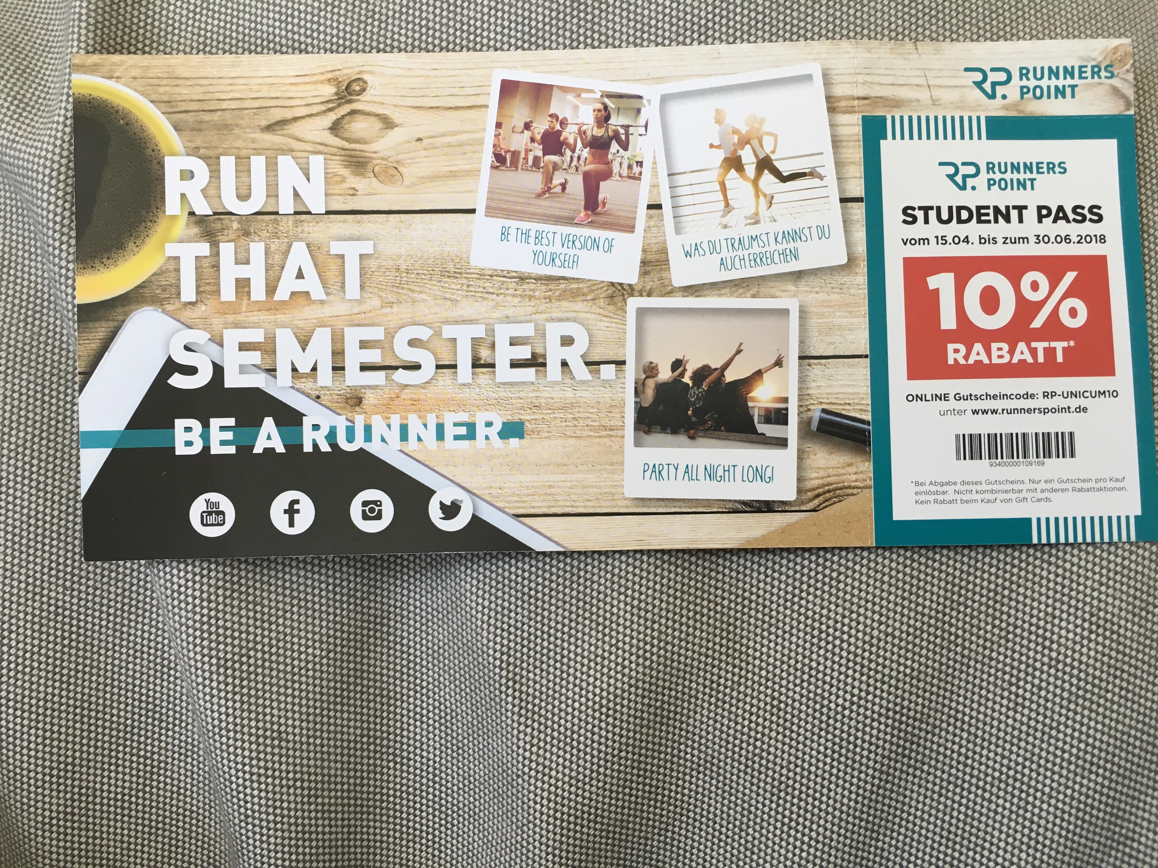 10% Rabatt bei Runnerspoint