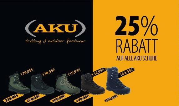 25% auf alle AKU Schuhe bei Recon Company