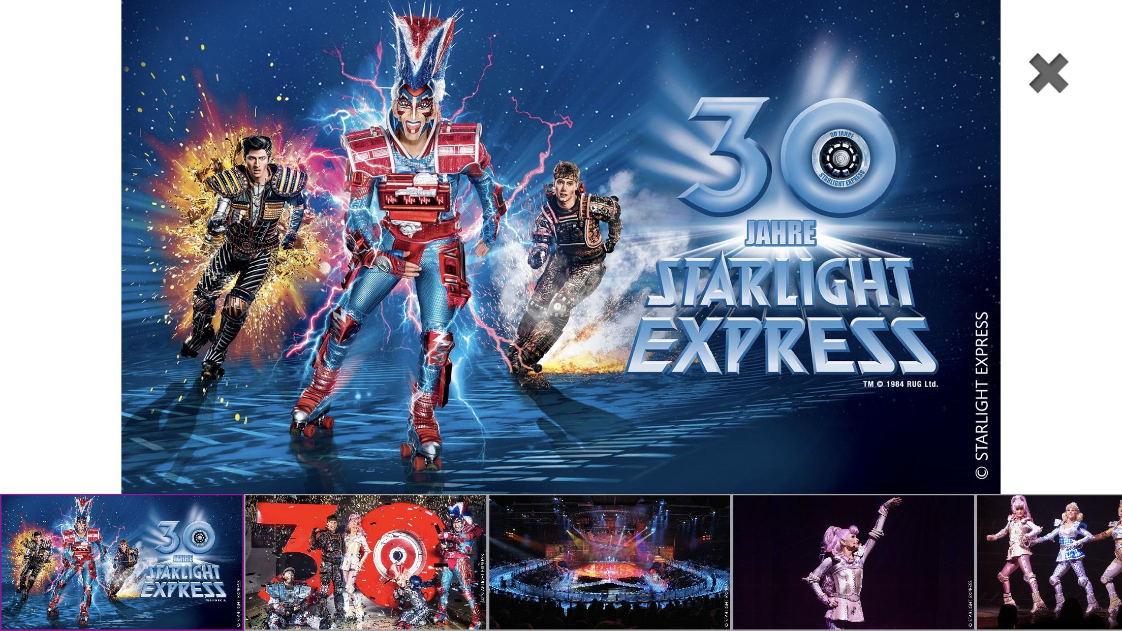 Starlight Express Jubiläums Rabatt