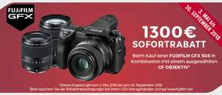 [Gutschein*] Fujifilm X Serie Sofortrabatt (bei teilnehmenden Fachhändlern)