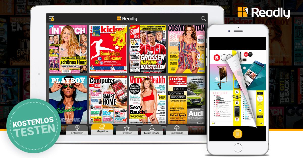 Readly Magazin-Flatrate 2 Monate kostenlos testen