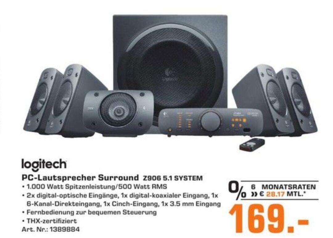 (Lokal Köln & Braunschweig Saturn) LOGITECH Z906 PC-Lautsprecher,169Euro