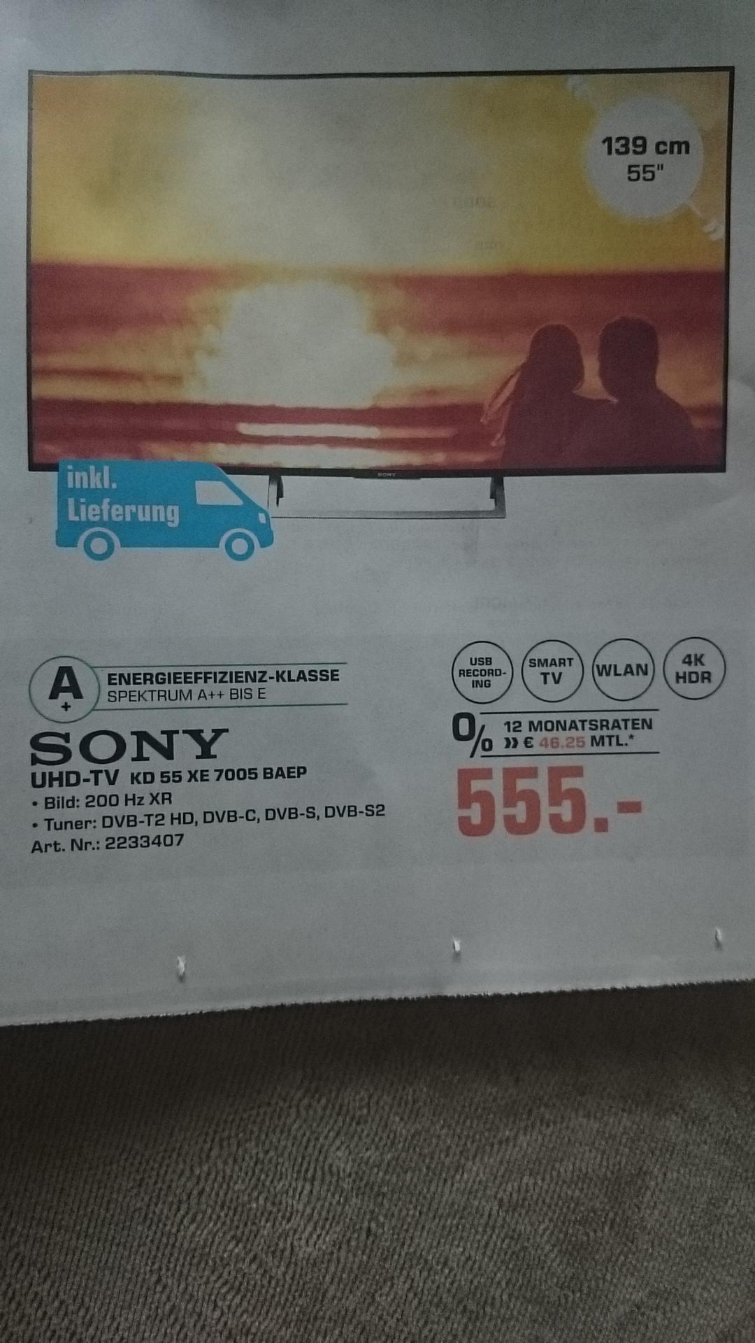 [Lokal] Sony KD 55XE7005 TV, Saturn Bielefeld ab 11.05.,kostenlose  regionale Lieferung