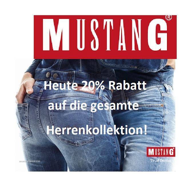 Vatertag  bei Mustang Jeans: 20% Rabatt auf die gesamte Herrenbekleidung!