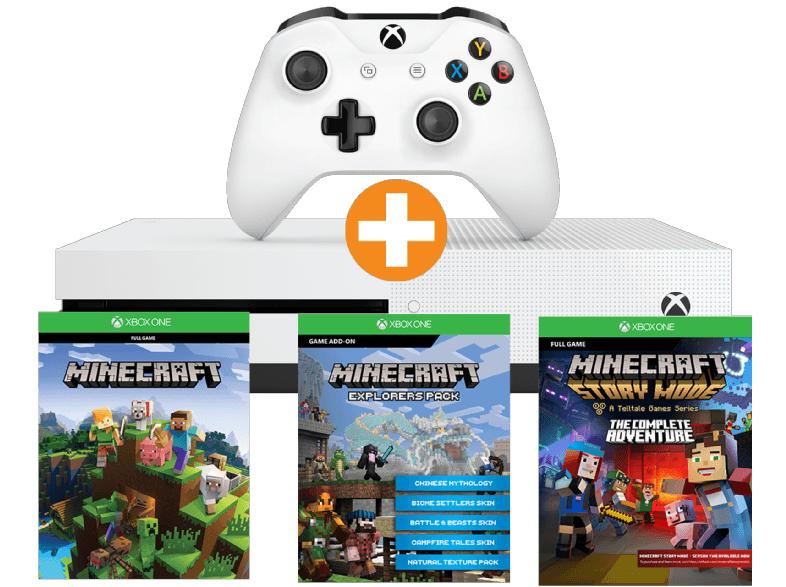 MICROSOFT Xbox One S 500GB Minecraft Complete Adventure Bundle o. Forza Horizon + DLC Hot Wheels + Playerunknown's Battleground Bundle je 185€ + 10€ Versand nach D - REWE möglich! - [Saturn.at]