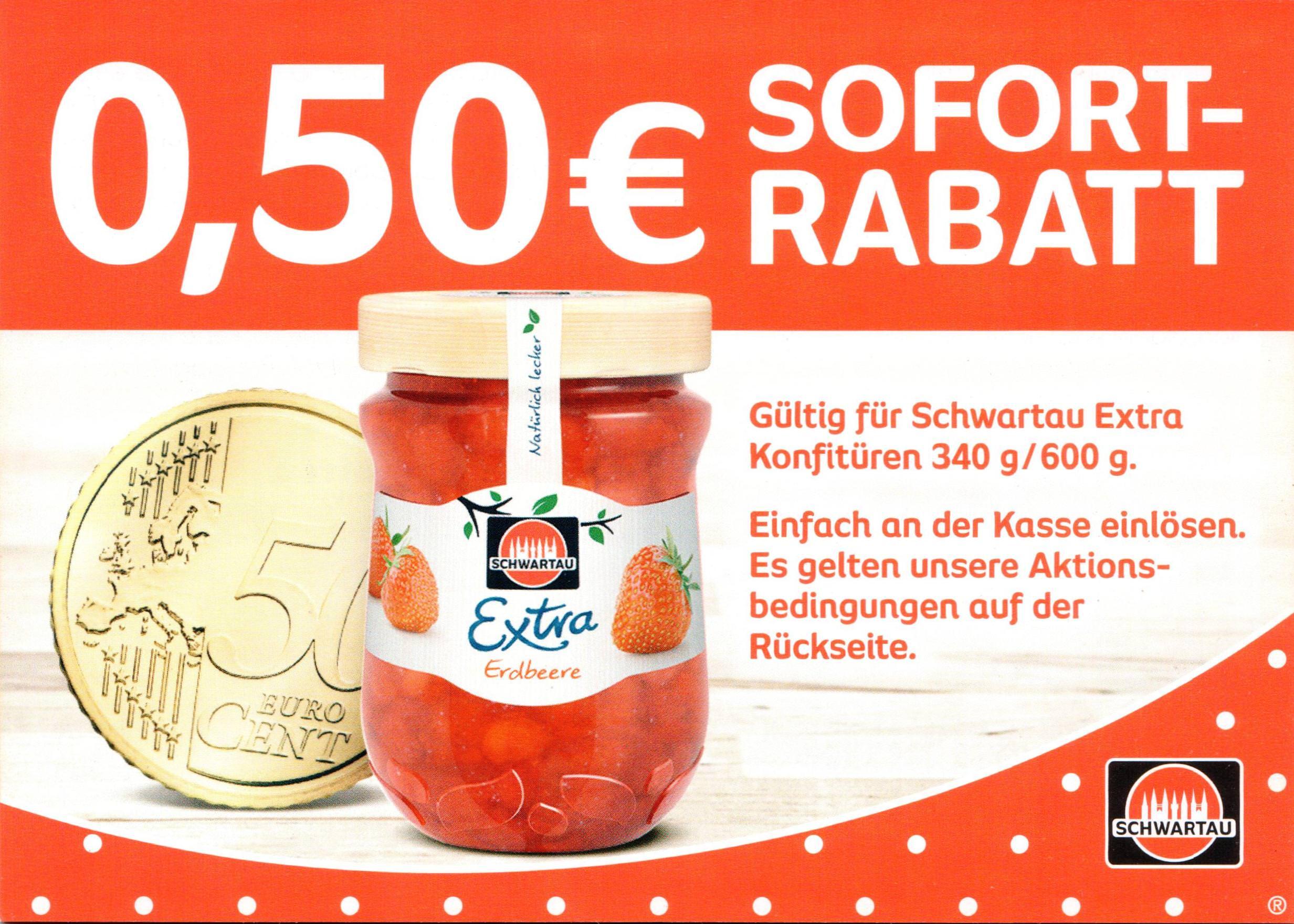 Neuer -0,50€ Coupon für Schwartau Extra 340g/600g bis 01.06.2018