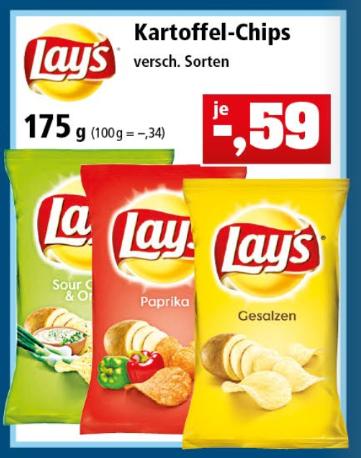 Lay's Chips versch. Sorten 175g [Thomas Philipps ab 14.05.18]