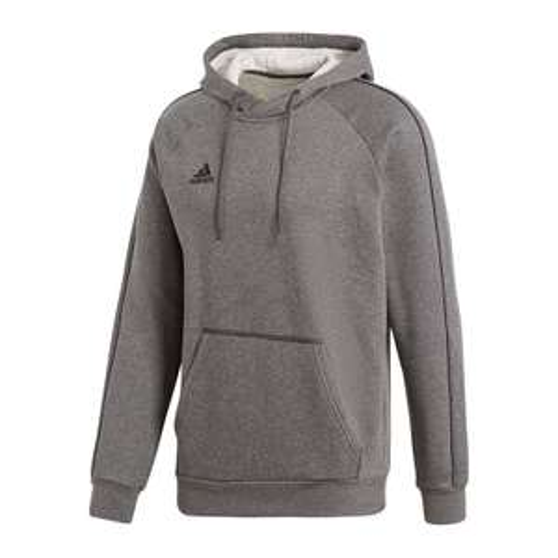 adidas Core 18 Hoody Kapuzensweatshirt Grau und schwarz 11teamsports