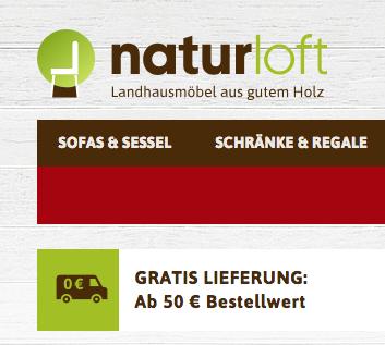 ( Naturloft ) 15% auf  alles* im Landhausmöbel Onlinestore